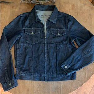GAP lightweight zip up denim jean jacket S